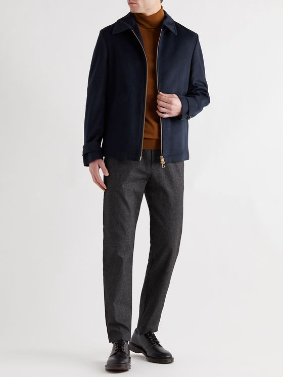NN07 Jeremy Brushed Wool-Blend Blouson Jacket