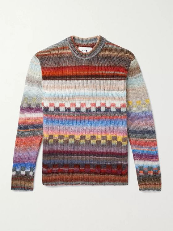 NN07 Jackson Intarsia Wool-Blend Sweater