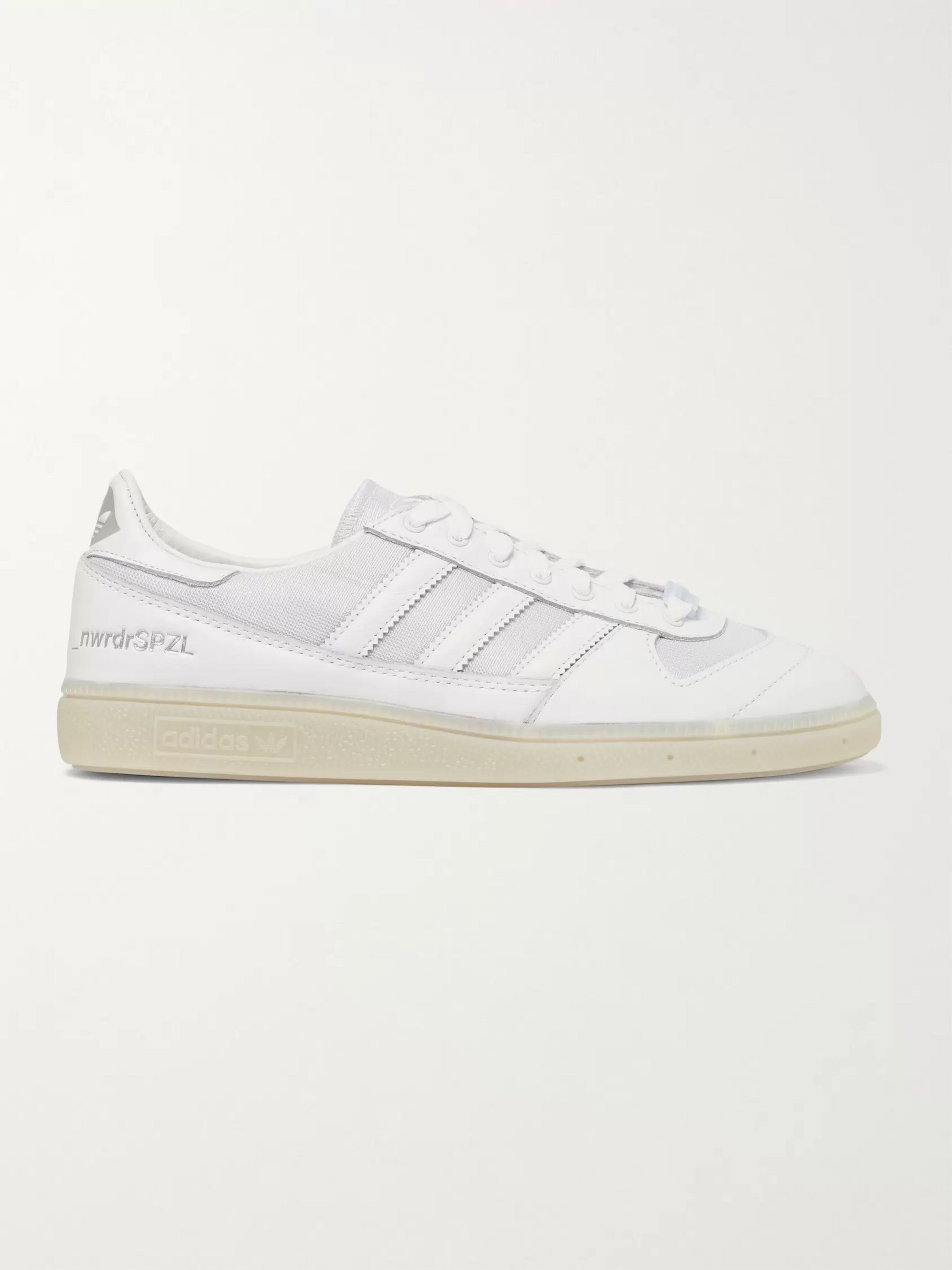 adidas Consortium + New Order SPEZIAL Wilsy Leather and Reflective-Mesh Sneakers
