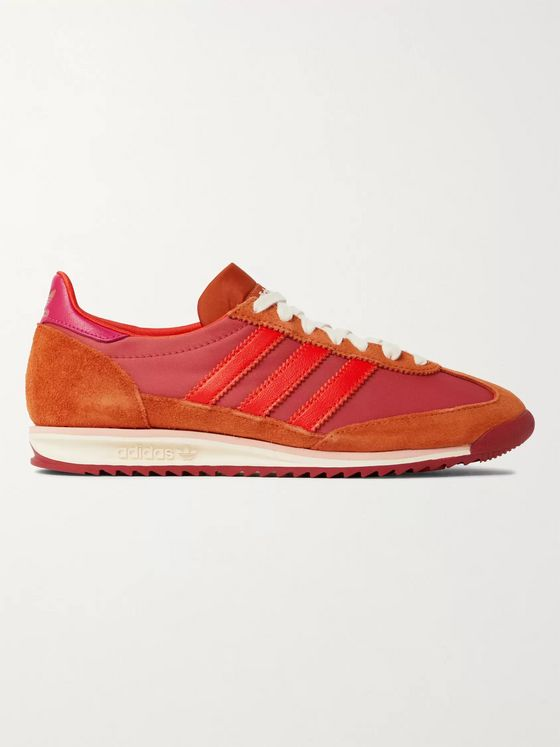 adidas Consortium + Wales Bonner SL72 Shell, Leather and Suede Sneakers
