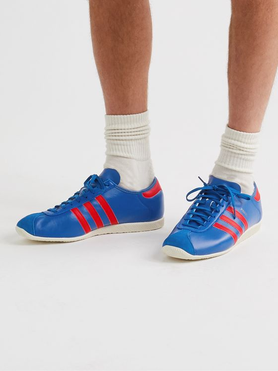 ADIDAS ORIGINALS Paris Suede-Trimmed Leather Sneakers