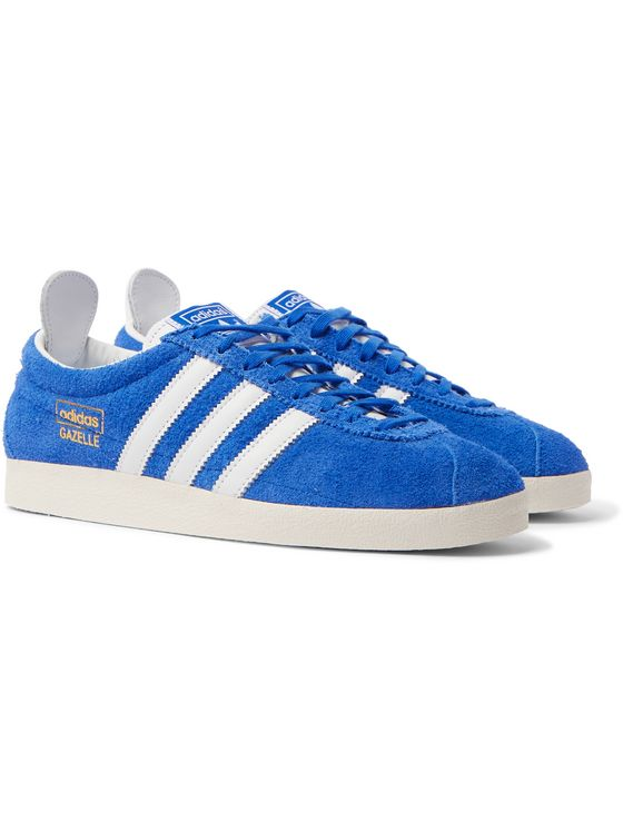 ADIDAS ORIGINALS Gazelle Vintage Leather-Trimmed Brushed-Suede Sneakers