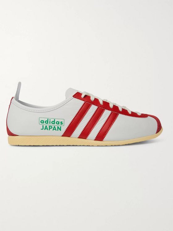 ADIDAS ORIGINALS Japan Suede-Trimmed Leather Sneakers