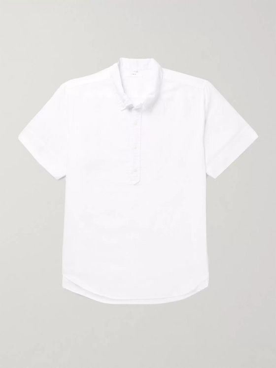 Save Khaki United Button-Down Collar Cotton and Linen-Blend Shirt
