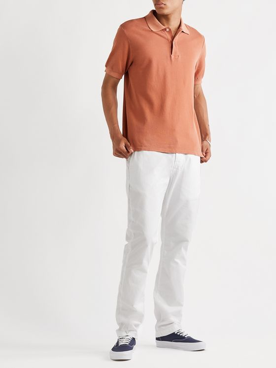 Save Khaki United Slim-Fit Pigment-Dyed Organic Cotton-Pique Polo Shirt
