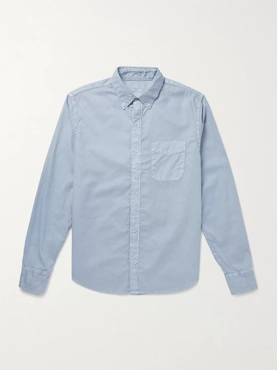 Save Khaki United Slim-Fit Garment-Dyed Button-Down Collar Cotton Oxford Shirt