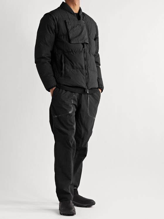 Stone Island Shadow Project Convertible Quilted Cotton And Nylon-Blend Hooded Down Jacket