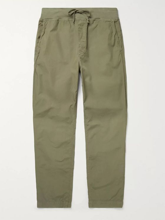 Save Khaki United Cozy Garment-Dyed Cotton-Poplin Drawstring Trousers
