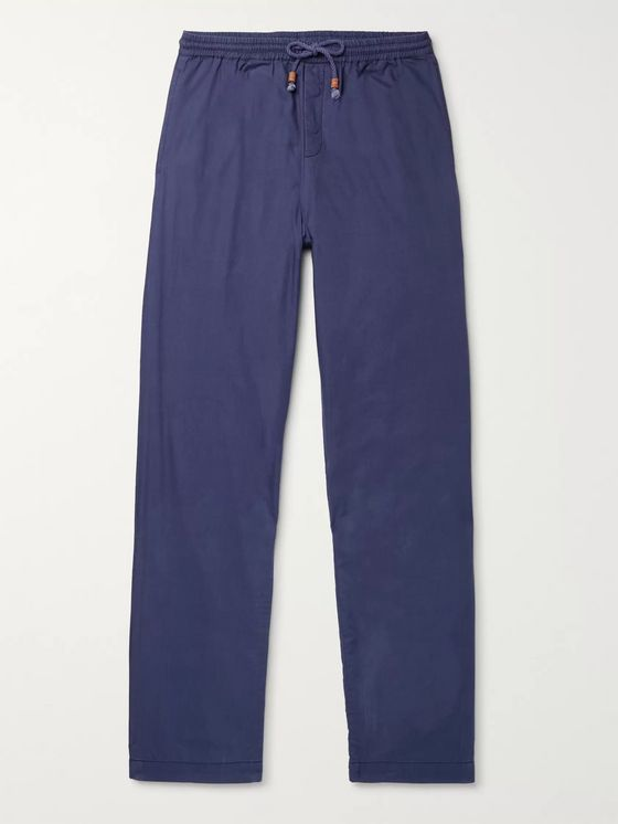 SMR Days Tapered Herringbone Cotton Drawstring Trousers