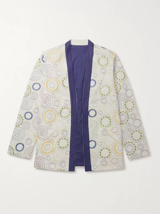 SMR Days Reversible Embroidered Cotton Kimono Jacket