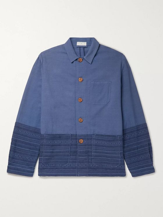 SMR Days Cotton-Jacquard Chore Jacket