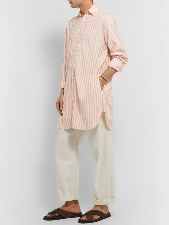 SMR Days Oversized Striped Cotton Tunic Shirt