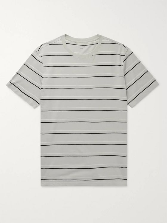 Club Monaco Slim-Fit Striped Cotton-Jersey T-Shirt