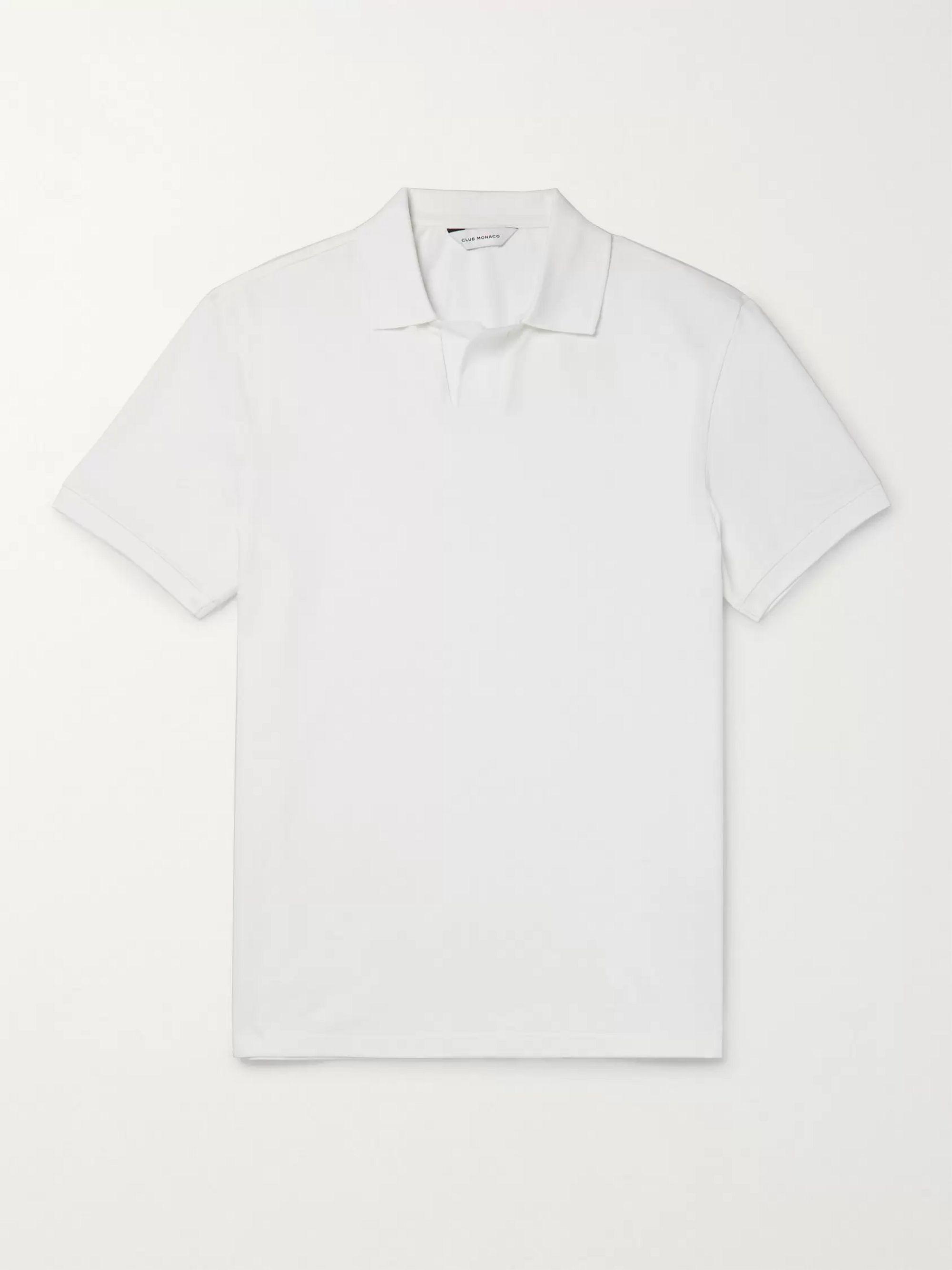 CLUB MONACO Johnny Stretch Cotton-Pique Polo Shirt