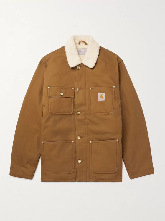 Carhartt WIP Fairmount Faux Shearling-Lined Organic Cotton-Canvas Field Jacket