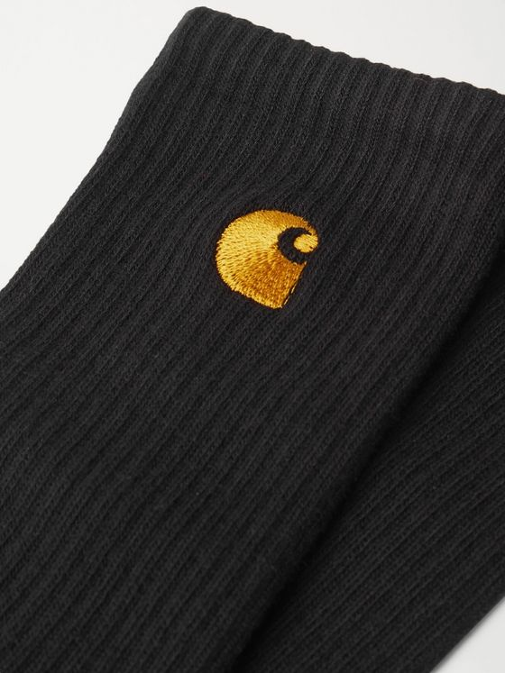 Carhartt WIP Chase Logo-Embroidered Cotton-Blend Socks
