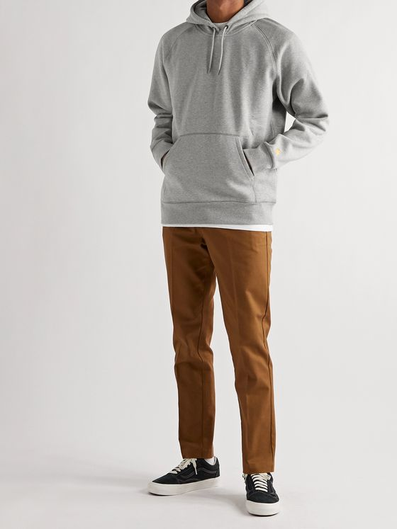 CARHARTT WIP Chase Mélange Fleece-Back Cotton-Blend Jersey Hoodie