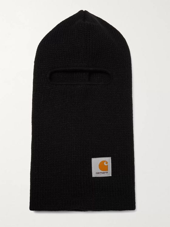 CARHARTT WIP Logo-Appliquéd Ribbed-Knit Storm Mask