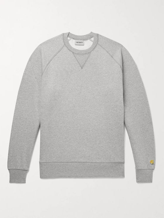 CARHARTT WIP Chase Mélange Fleece-Back Cotton-Blend Jersey Sweatshirt