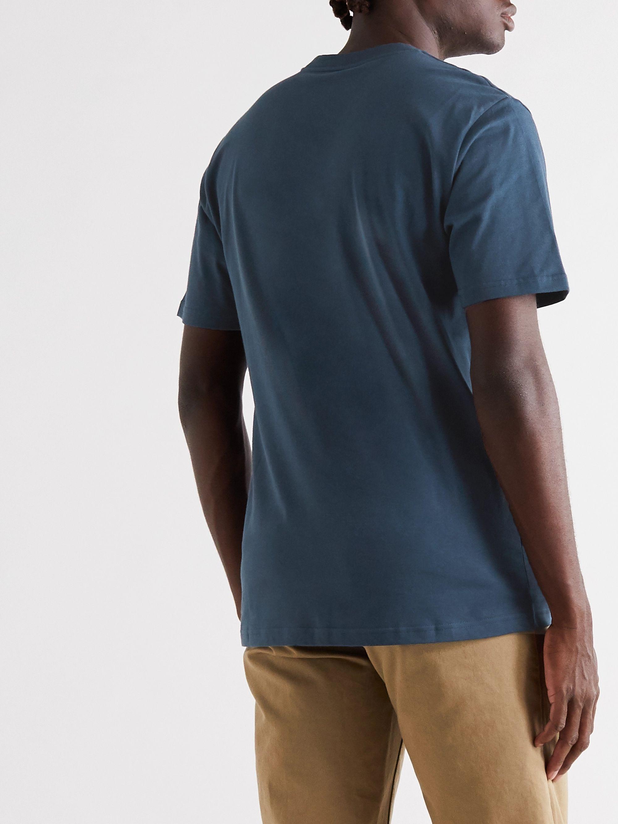 Blue Logo-print Cotton-jersey T-shirt | Carhartt Wip