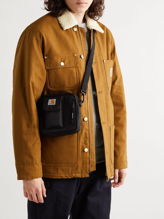 CARHARTT WIP Essentials Logo-Appliquéd Canvas Messenger Bag