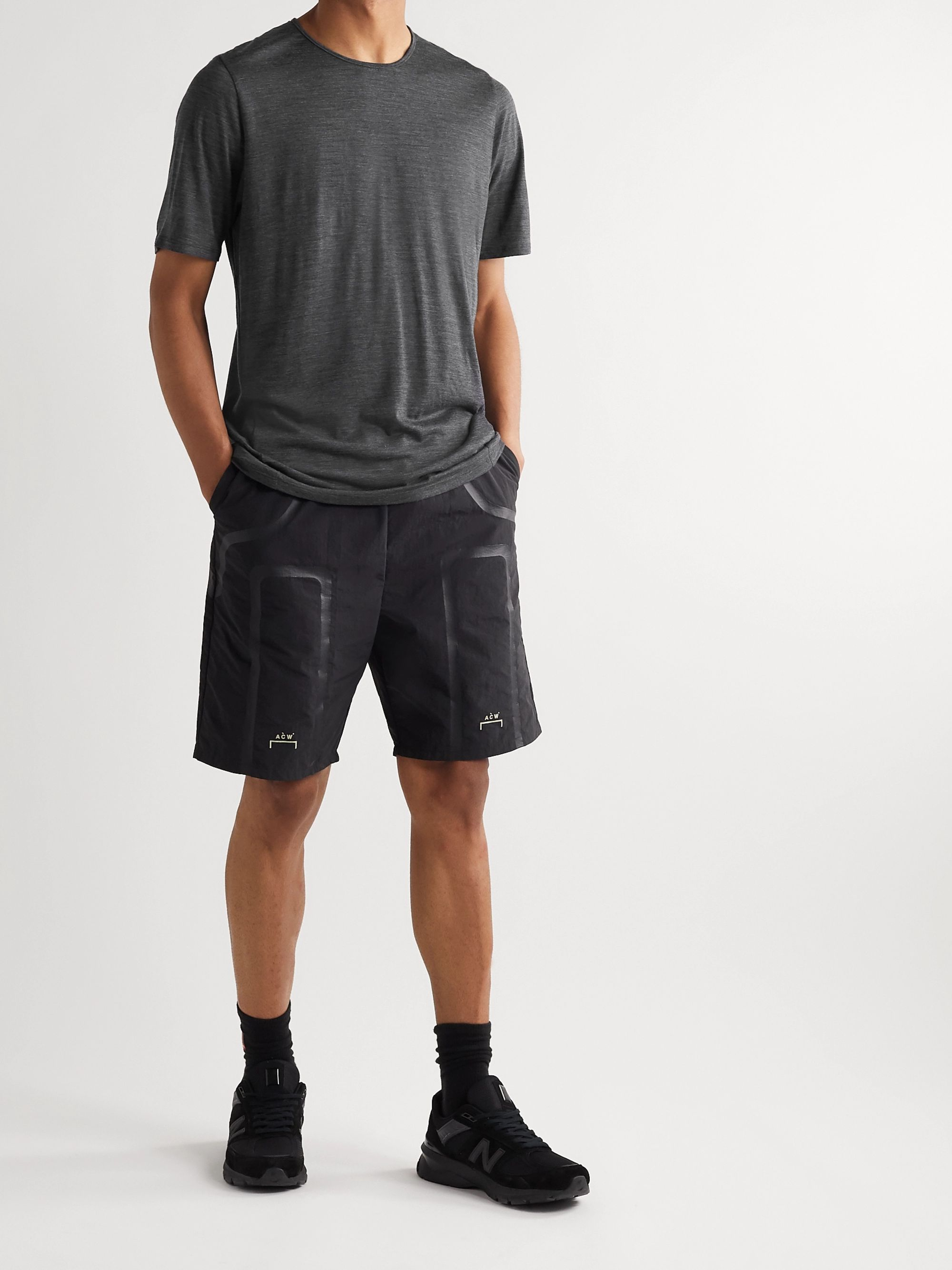Veilance Frame Mélange Wool and Nylon-Blend Jersey T-Shirt