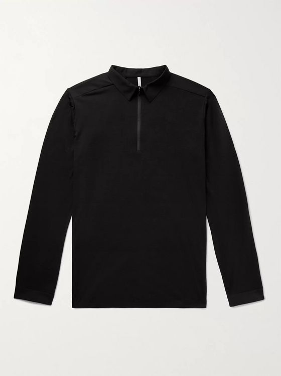 Veilance Frame Wool and Nylon-Blend Jersey Polo Shirt