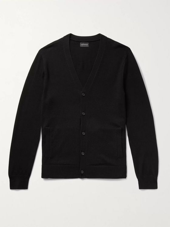 CLUB MONACO Piped Wool Cardigan