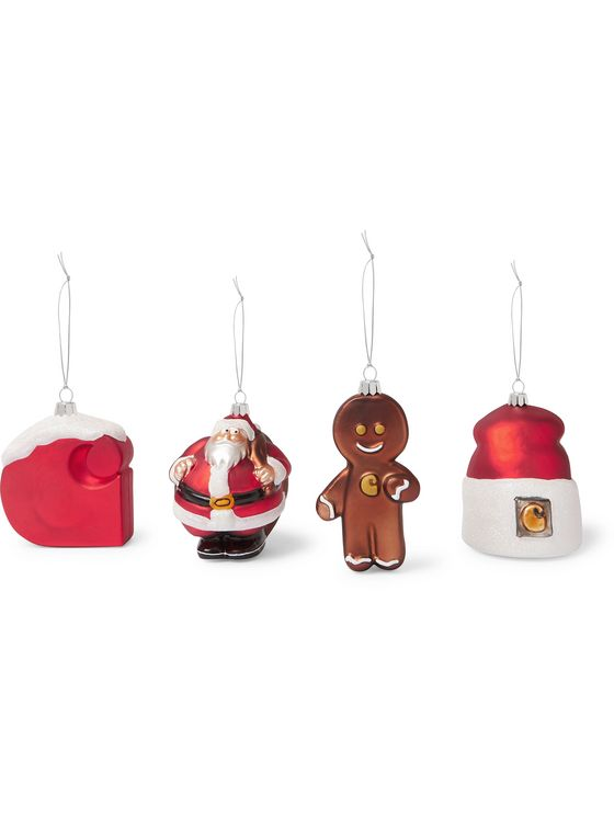 Carhartt WIP Set of Four Glass Baubles