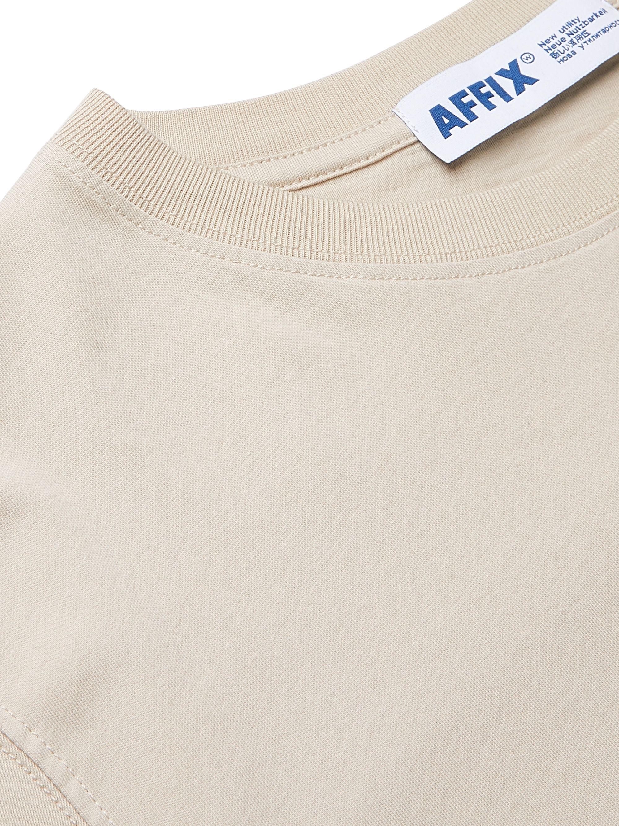 Beige Logo-print Cotton-jersey T-shirt | Affix