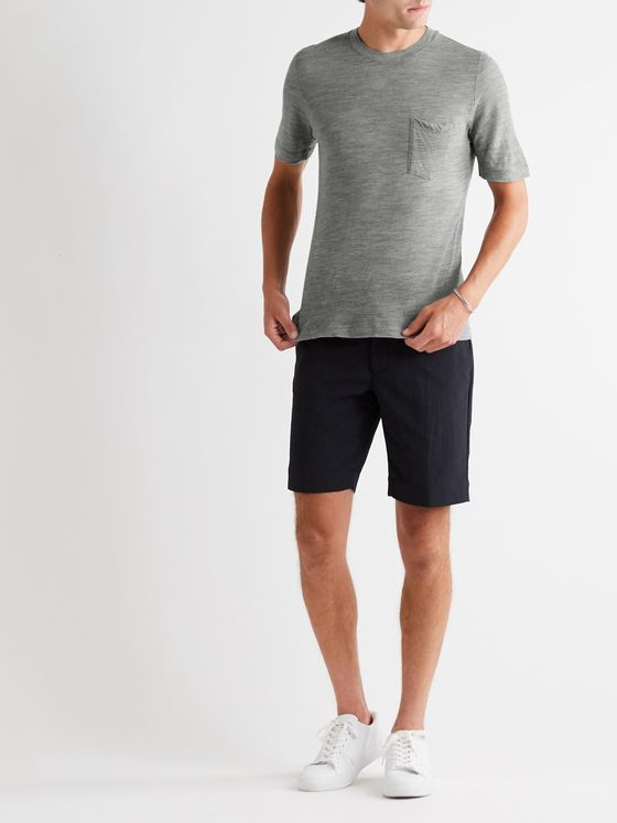 INCOTEX Urban Traveller Slim-Fit Mélange Wool T-Shirt