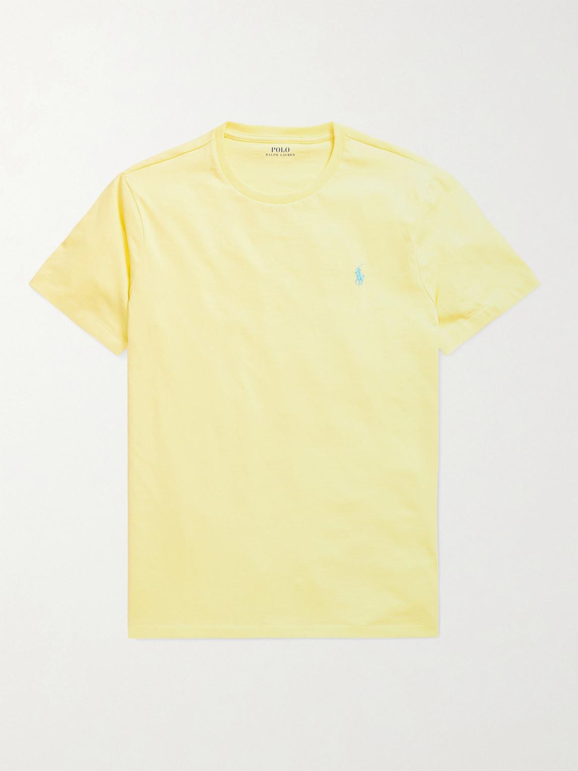 POLO RALPH LAUREN - Cotton-Jersey T-Shirt - Men - Yellow