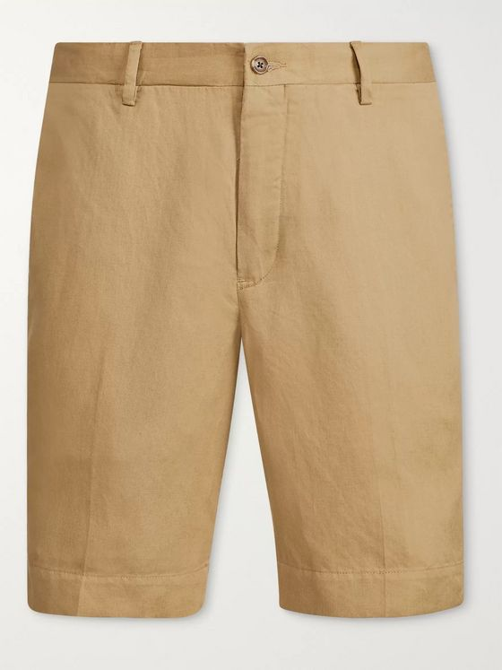 Polo Ralph Lauren Newport Linen, Lyocell and Cotton-Blend Shorts