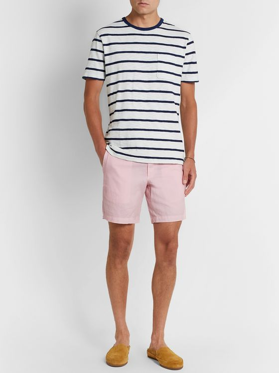 Polo Ralph Lauren Maritime Slim-Fit Linen and Cotton-Blend Shorts