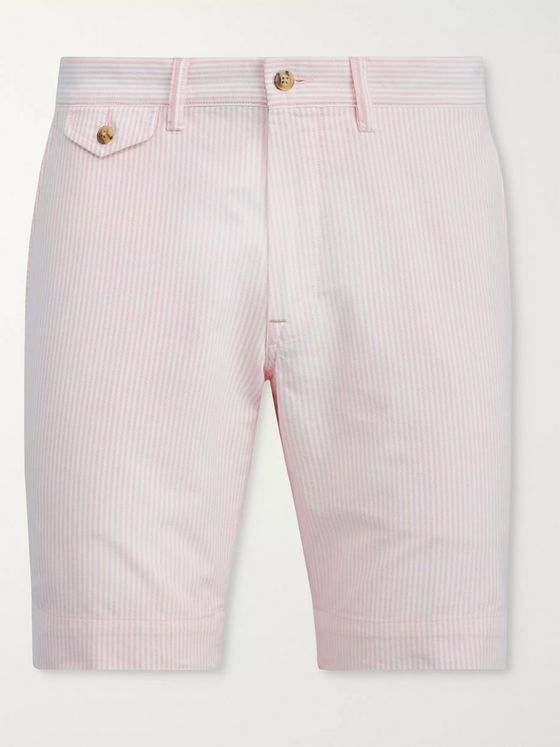 Polo Ralph Lauren Bedford Pinstriped Stretch-Cotton Twill Shorts