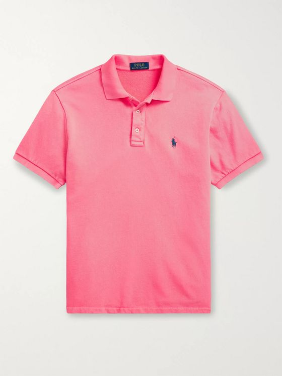 POLO RALPH LAUREN Slim-Fit Loopback Cotton-Jersey Polo Shirt