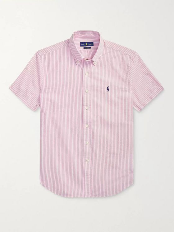 Polo Ralph Lauren Striped Cotton-Seersucker Shirt
