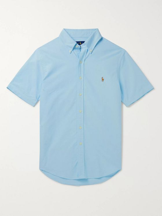 Polo Ralph Lauren Slim-Fit Button-Down Collar Garment-Dyed Cotton-Oxford Shirt