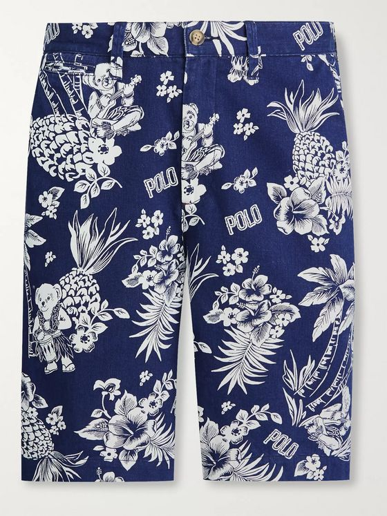 Polo Ralph Lauren Printed Cotton-Twill Chino Shorts