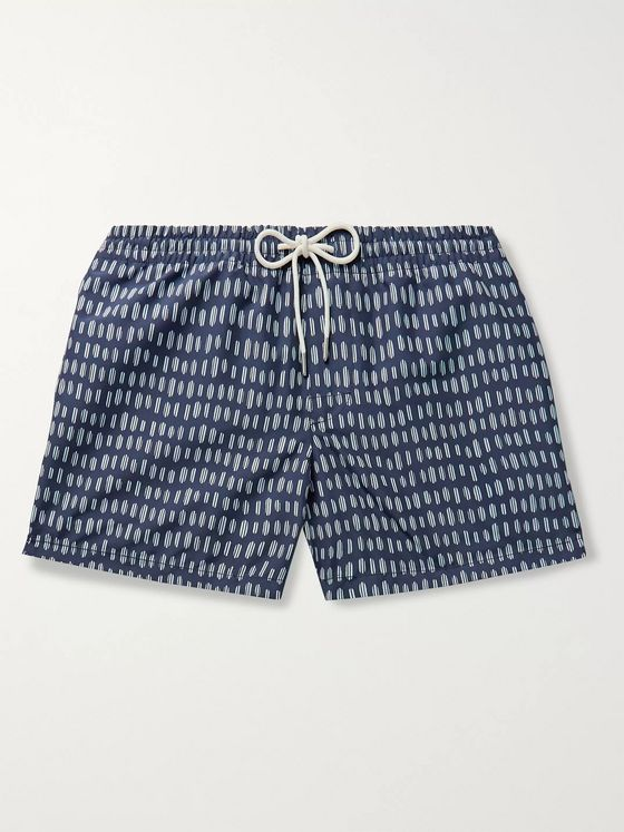Club Monaco Arlen Slim-Fit Short-Length Printed Swim Shorts