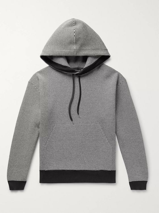 Club Monaco Striped Cotton-Blend Hoodie