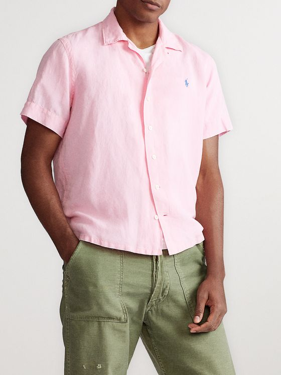 Polo Ralph Lauren Camp-Collar Linen, Lyocell and Cotton-Blend Shirt