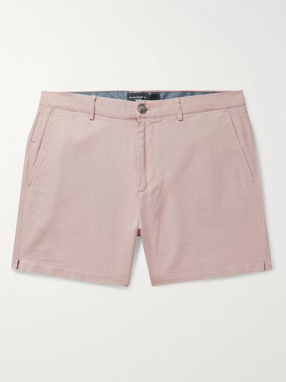 Club Monaco Jax Slim-Fit Cotton and Linen-Blend Shorts
