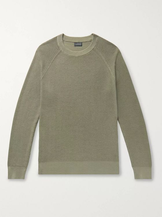 Club Monaco Garment-Dyed Cotton Sweater