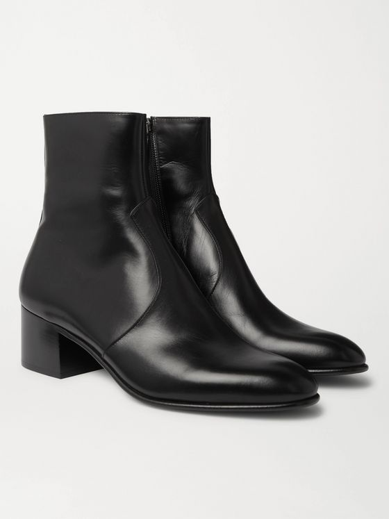 SAINT LAURENT James 60 Leather Chelsea Boots