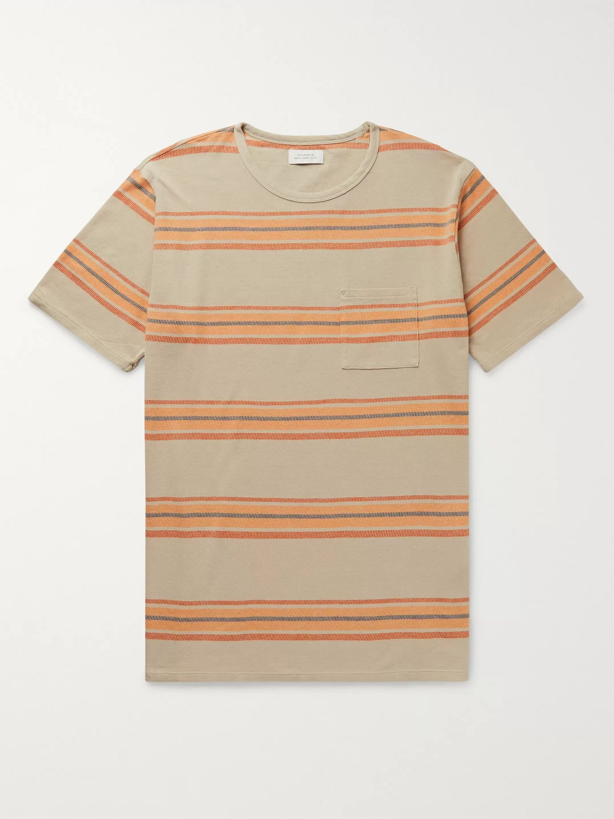 Saturdays NYC Randall Striped Cotton T-Shirt