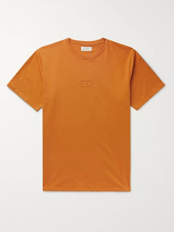 Saturdays NYC United Slim-Fit Printed Cotton-Jersey T-Shirt