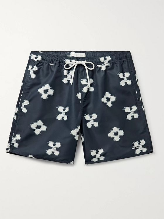 Saturdays NYC Timothy Mid-Length Printed Ripstop Swim Shorts