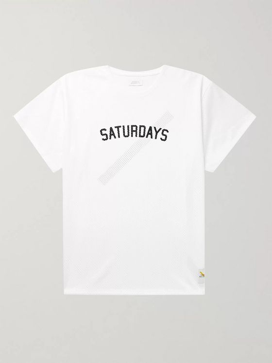 Saturdays NYC Marley Logo-Print Mesh T-Shirt