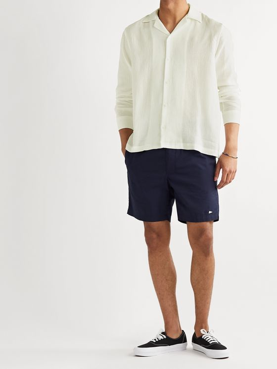 Saturdays NYC Marco Camp-Collar Cotton-Gauze Shirt